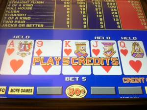 An Example of a Video Poker Pay Table